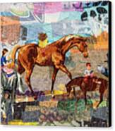 Distracted Riding Canvas Print by Martha Ressler