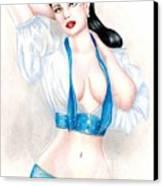 Dita Canvas Print by Scarlett Royal