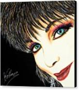 Diva Nasty Canvas Print by Joseph Lawrence Vasile