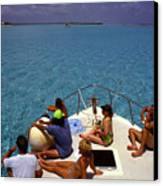 Diveboat At Little Cayman Canvas Print