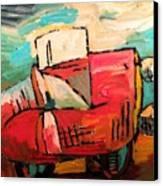 Divorcee Exodus  Sold Canvas Print by Charlie Spear