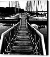 Dock And Sailboats Canvas Print