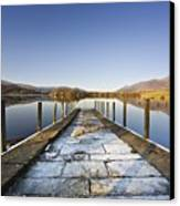 Dock In A Lake, Cumbria, England Canvas Print