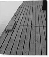 Dock In Black And White Canvas Print