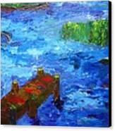 Dock On The Marsh Canvas Print