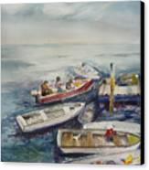 Dockside Canvas Print by Dorothy Herron