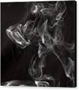 Dog Smoke Canvas Print by Garry Gay