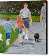 Dog Walkers Canvas Print