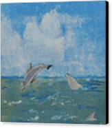 Dolphin Frolic Canvas Print