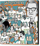 Dolphins Ring Of Honor Canvas Print