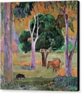 Dominican Landscape Canvas Print by Paul Gauguin
