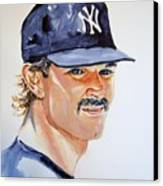 Don Mattingly Canvas Print by Brian Degnon