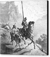 Don Quixote And Sancho Canvas Print by Granger