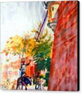 Don Quixote In San Juan Canvas Print by Estela Robles
