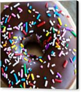 Donut With Sprinkles Canvas Print