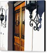 Door And Lamps Canvas Print by Thomas R Fletcher