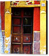 Door In The House Of Icons Canvas Print by Mexicolors Art Photography