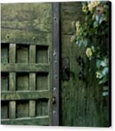 Door With Padlock Canvas Print by Bernard Jaubert