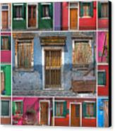 doors and windows of Burano - Venice Canvas Print