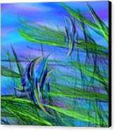 Dos Pescados En Salsa Verde Canvas Print by Wally Boggus