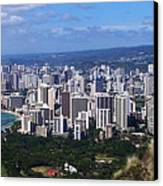 Downtown Honolulu  Canvas Print