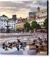 Downtown Lisbon Canvas Print by Carlos Caetano