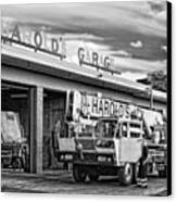 Downtown Northampton - Harold's Garage Canvas Print by HD Connelly