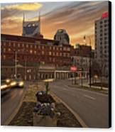 Downtown Sunset Canvas Print by Steven  Michael