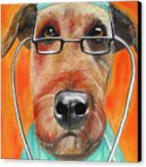 Dr. Dog Canvas Print by Michelle Hayden-Marsan
