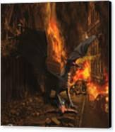 Dragon Flame Canvas Print by Solomon Barroa
