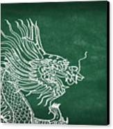 Dragon On Chalkboard Canvas Print by Setsiri Silapasuwanchai