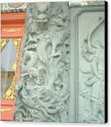 Dragon Pillar Canvas Print by Melissa Stinson-Borg