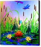 Dragonfly Pond Canvas Print by Hanne Lore Koehler
