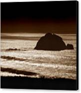 Drama On Big Sur Canvas Print
