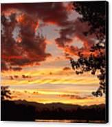 Dramatic Sunset Reflection Canvas Print