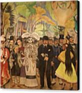Dream In The Alameda Diego Rivera Mexico City Canvas Print