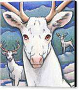 Dream Of The White Stag Canvas Print by Amy S Turner