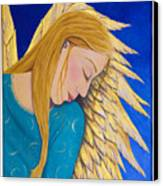 Dreaming Angel Canvas Print by Jacqueline Lovesey