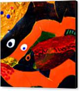 Dreamtime Barramundi Detail Canvas Print by Sarah King