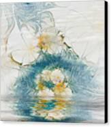 Dreamy World In Blue Canvas Print by Deborah Benoit