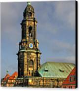 Dresden Kreuzkirche - Church Of The Holy Cross Canvas Print by Christine Till