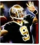 Drew Brees New Orleans Saints Canvas Print