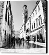 #dubrovnik #b&w #edit Canvas Print by Alan Khalfin