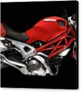 Ducati Monster In Red Canvas Print