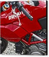 Ducati Red Canvas Print by Diane E Berry