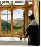 Duchess Of Abercorn Looking Out Of A Window Canvas Print by Sir Edwin Landseer