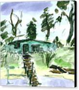 Duck Hunters Cabin Canvas Print