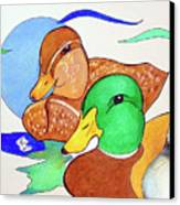 Ducks2017 Canvas Print by Loretta Nash