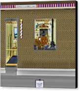 Dugger's Barber Shop Canvas Print