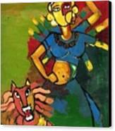Durga Canvas Print by Abdus Salam